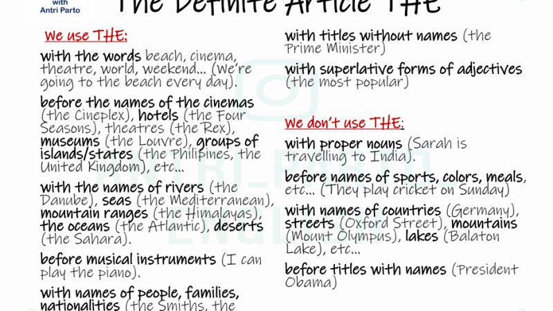 The Definite Article THE