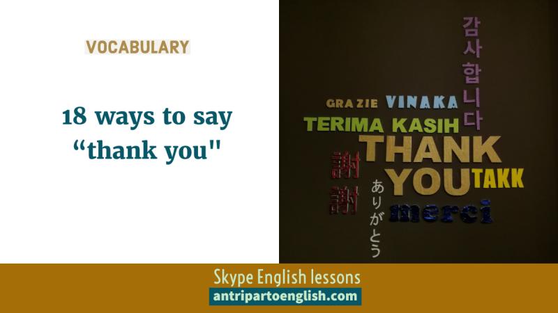 """18 ways to say """"thankyou"""""""
